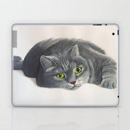 Grey Cat Painting Laptop & iPad Skin