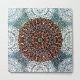 Summer Solstice Mandala Metal Print