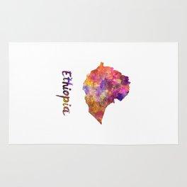 Ethiopia in watercolor Rug