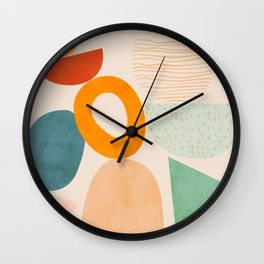 mid century modern abstract design Wall Clock