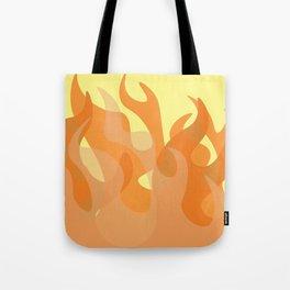 Pastel Flames Tote Bag