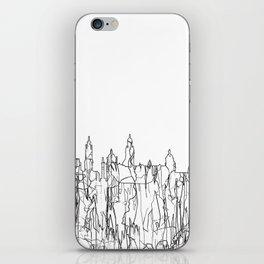 Glasgow, Scotland UK Skyline B&W - Thin Line iPhone Skin
