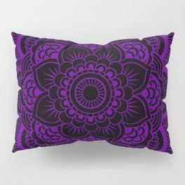Deep Purple Mandala Pillow Sham