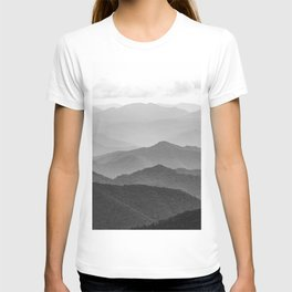 Forest Fade - Black and White Landscape Nature Photography T-shirt