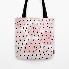 Pink Dots Pattern Tote Bag