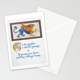 G is for Gryphon Stationery Cards