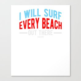 Surf surfing sea sports gift Canvas Print