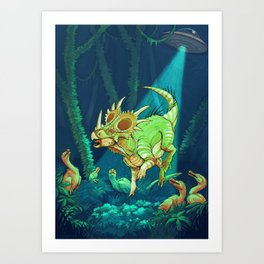 Cretaceous Abduction Art Print
