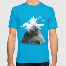 Forest triangle Teal LARGE Mens Fitted Tee