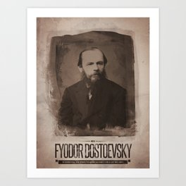 Fyodor Dostoevsky Art Print
