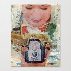 Madonna with Camera Canvas Print