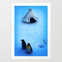 Frozen land Art Print