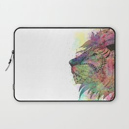 Awesome tribal watercolor lion design Laptop Sleeve