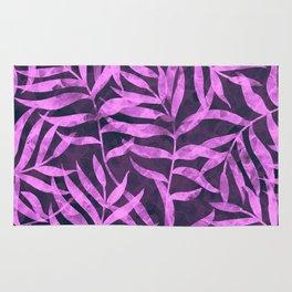 Watercolor Tropical Palm Leaves VIII Rug