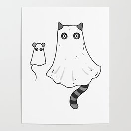 Cat Ghost & Mouse Ghost – Nightmare Poster