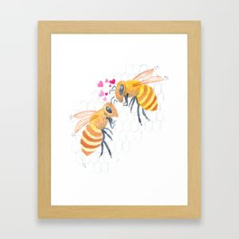 Bee-loved Framed Art Print