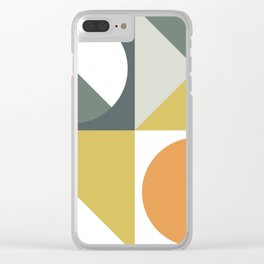 Mid Century Geometric 01 Clear iPhone Case
