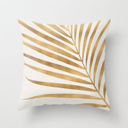 Metallic Gold Palm Leaf Deko-Kissen