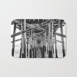 Balboa Pier Print {3 of 3} | Newport Beach Ocean Photography B&W Summer Sun Wave Art Bath Mat