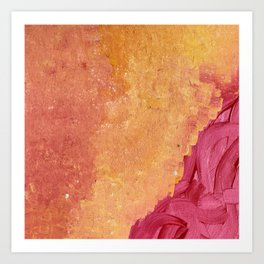 Orange hues Art Print