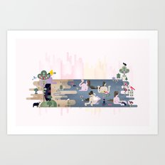 Peek-a-Boob Art Print