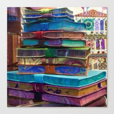 Hand MAde Books In Venice Canvas Print