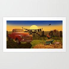 Nostalgic Country Life Art Print