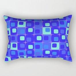 Retro kitchen pattern blue Rectangular Pillow