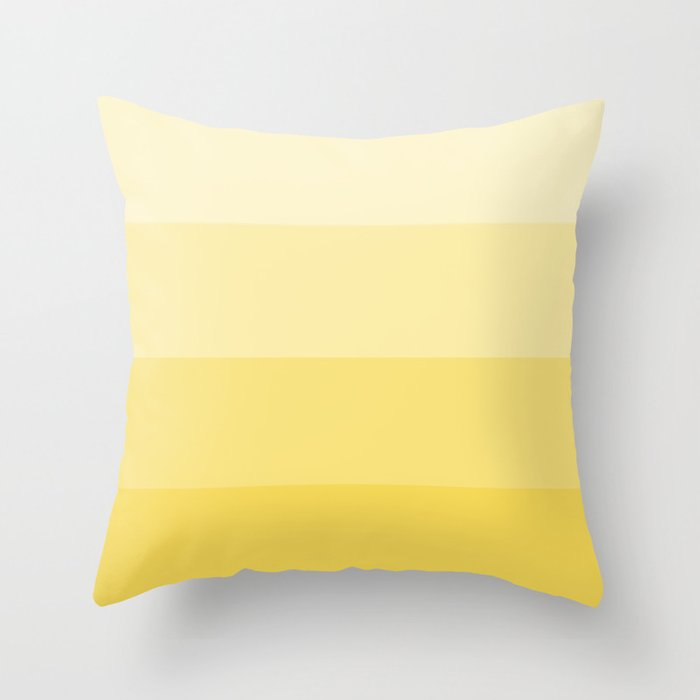 Four Shades of Yellow Throw Pillow
