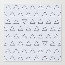 Simple Triangles Pattern Canvas Print
