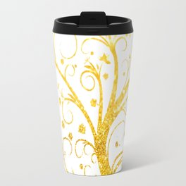Gold Tree Travel Mug
