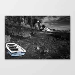 Falmouth blue boat  Canvas Print