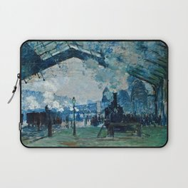 Claude Monet - Arrival Of The Normandy Train, Gare Saint Lazare Laptop Sleeve