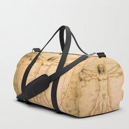 Vitruvian Man by Leonardo da Vinci Duffle Bag
