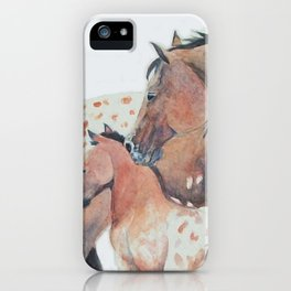 Mother's Love Appaloosa Horses iPhone Case