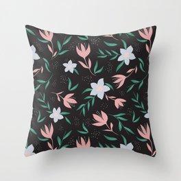 Gloomy Floral Throw Pillow