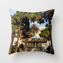 Dream park, Nice France Throw Pillow