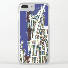 Streets of Sydney  - World Map Series Clear iPhone Case