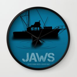 Jaws - Alternative Movie Poster Wall Clock