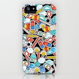 Back to school with masks iPhone Case