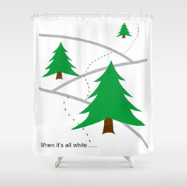 When it's all white... Shower Curtain