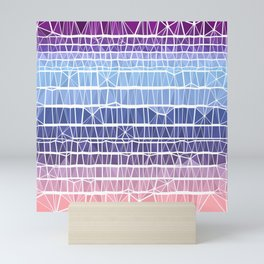 Low Poly Pink, Purple, and Blue Gradient Mini Art Print