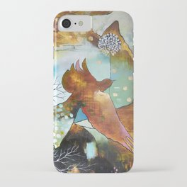 """Two Hearts"" Original Painting by Flora Bowley iPhone Case"
