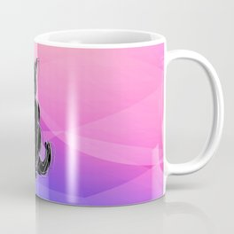 Black Cat - geometric background Coffee Mug