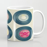 vinyl Mugs featuring Vinyl Collection by Cassia Beck