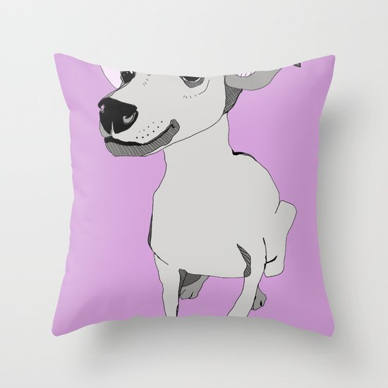 Whippet smile Throw Pillow