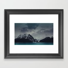 Lake Louise Winter Landscape Framed Art Print