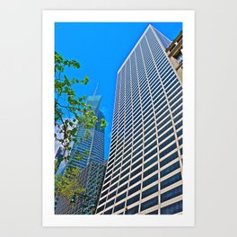 Bank of America Tower with Grace Building - NYC Art Print