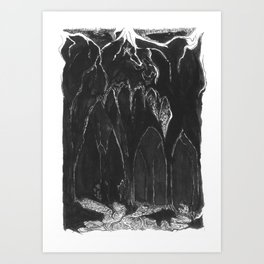 Caves Art Print