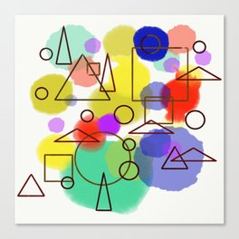 triangles and other stuff Canvas Print